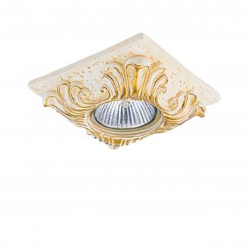 Встраиваемый светильник Lightstar Corinto 002622, 1xGU5.3x50W, матовое золото, пластик