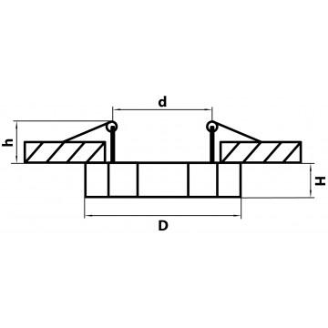 Схема с размерами Lightstar 002762