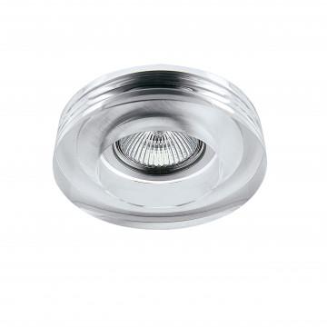 Встраиваемый светильник Lightstar Lei 006110, 1xGU5.3x50W, прозрачный, стекло