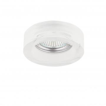 Встраиваемый светильник Lightstar Lei Mini 006139, 1xGU5.3x50W, белый, стекло