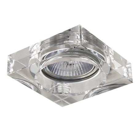Встраиваемый светильник Lightstar Lui Mini 006140, 1xGU5.3x50W, прозрачный, стекло
