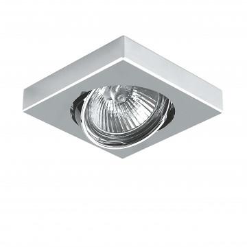 Встраиваемый светильник Lightstar Mattoni 006244, 1xGU5.3x50W, матовый хром, хром, металл - миниатюра 1