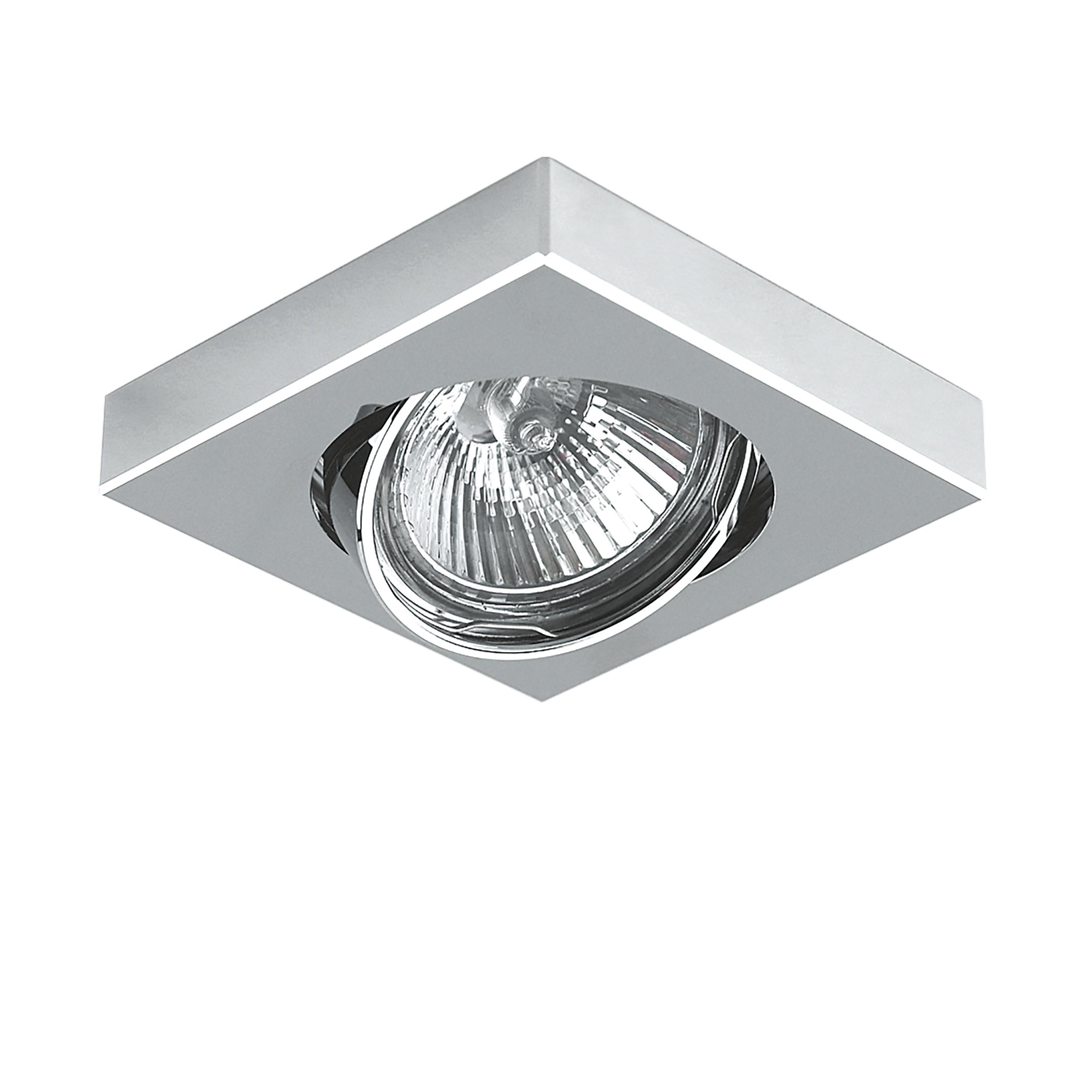 Встраиваемый светильник Lightstar Mattoni 006244, 1xGU5.3x50W, матовый хром, хром, металл - фото 1