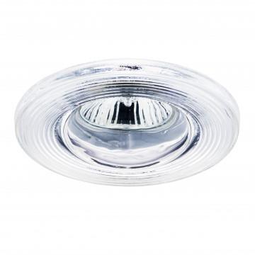 Встраиваемый светильник Lightstar Difesa Piano 006880, IP44, 1xGU5.3x35W, хром, прозрачный, стекло