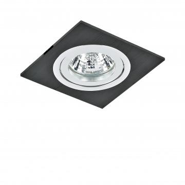 Встраиваемый светильник Lightstar Banale Weng 011007, 1xGU5.3x50W, венге, металл