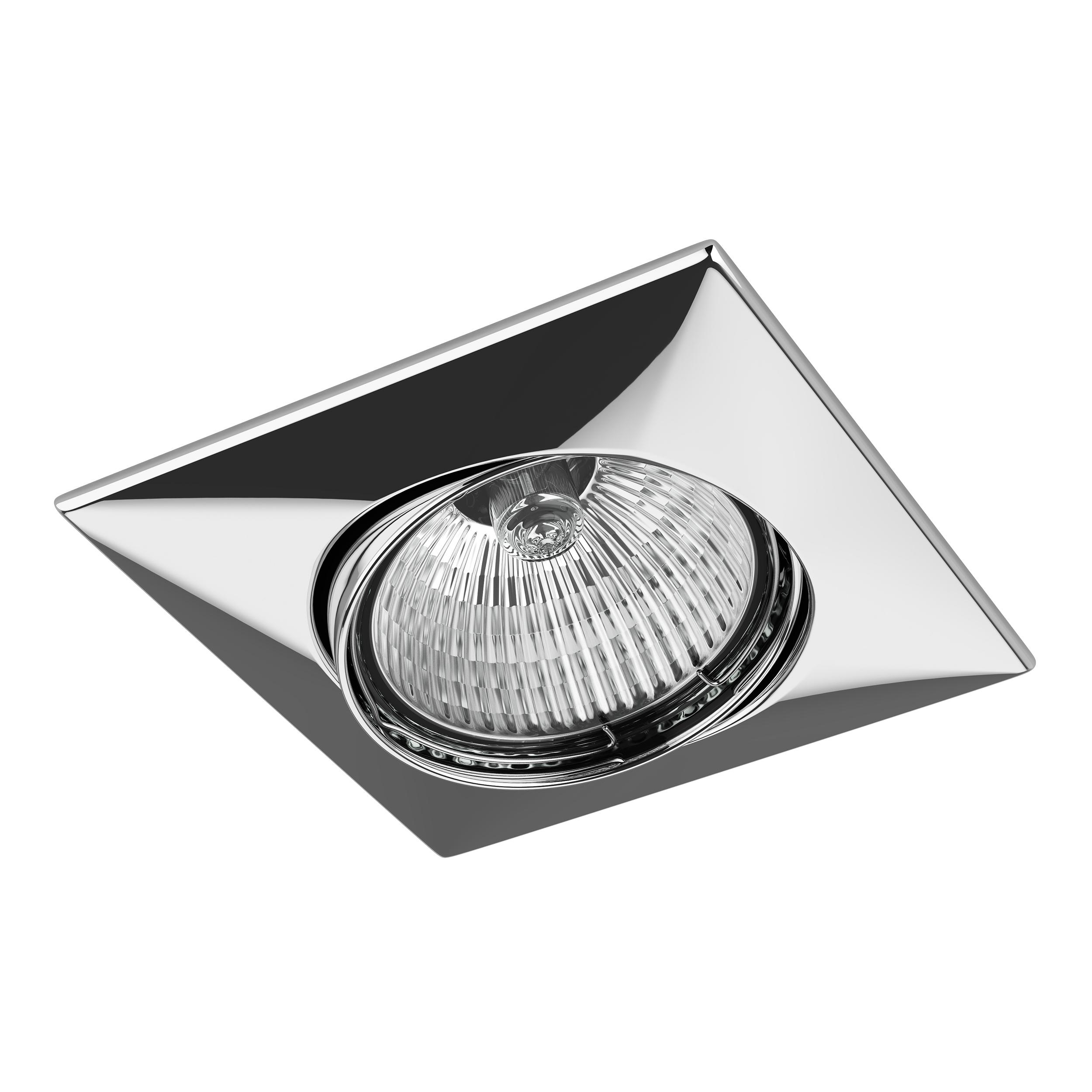 Встраиваемый светильник Lightstar Lega 16 011034, 1xGU5.3x50W, хром, металл - фото 1