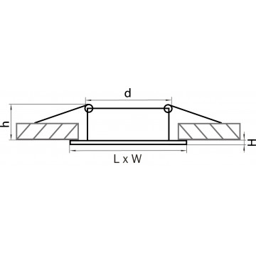 Схема с размерами Lightstar 011034