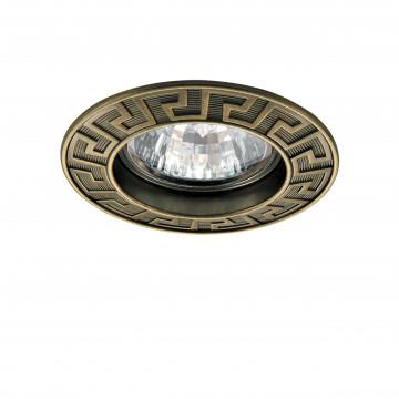 Встраиваемый светильник Lightstar Antico 011111, 1xGU5.3x50W, бронза, металл