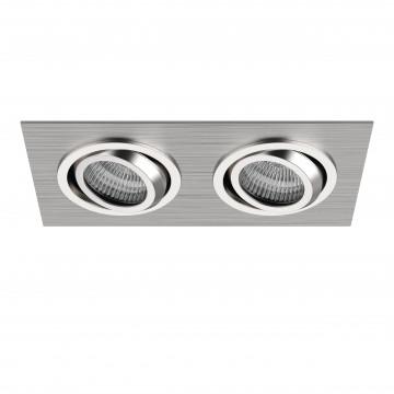 Встраиваемый светильник Lightstar Singo 011602, 1xGU5.3x50W, алюминий, хром, металл