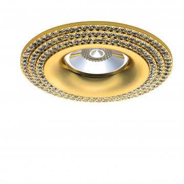 Встраиваемый светильник Lightstar Miriade 011972, 1xGU5.3x50W, золото, металл со стеклом/хрусталем