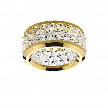 Встраиваемый светильник Lightstar Onora 031802, 1xGU5.3x50W, золото, прозрачный, металл со стеклом