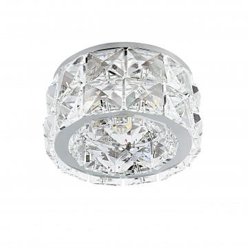 Встраиваемый светильник Lightstar Onda Grande 032804, 1xGU5.3x50W, хром, прозрачный, металл, хрусталь