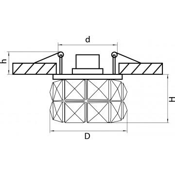 Схема с размерами Lightstar 032804