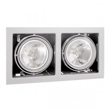 Встраиваемый светильник Lightstar Cardano 214120, 2xG53AR111x50W, белый, металл