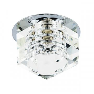 Встраиваемый светильник Lightstar Romb 004060, 1xG9x50W, хром, прозрачный, металл, стекло