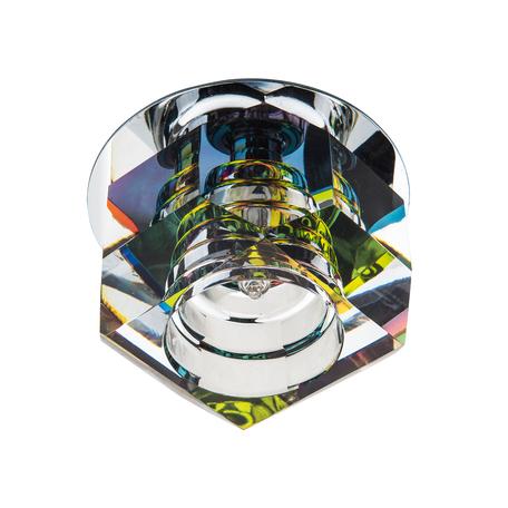 Встраиваемый светильник Lightstar Romb 004061, 1xG4x35W, хром, разноцветный, металл, стекло
