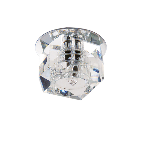 Встраиваемый светильник Lightstar Romb 004064, 1xG4x35W, хром, прозрачный, металл, стекло