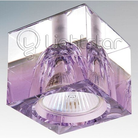 Встраиваемый светильник Lightstar Meta 004149, 1xGU5.3x50W, прозрачный, фиолетовый, металл, стекло
