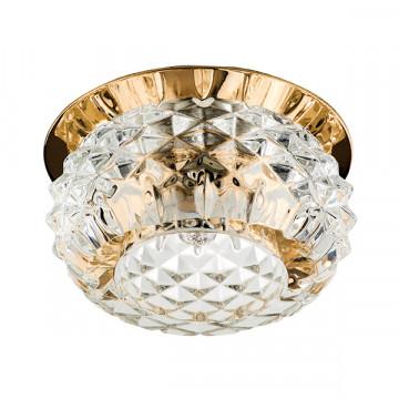 Встраиваемый светильник Lightstar Cesare 004252, 1xG9x40W, золото, прозрачный, металл, стекло