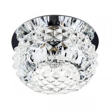 Встраиваемый светильник Lightstar Cesare 004254, 1xG9x40W, хром, прозрачный, металл, стекло