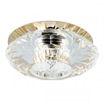 Встраиваемый светильник Lightstar Bomo 004512, 1xG9x40W, золото, прозрачный, металл, стекло