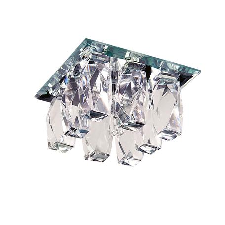 Встраиваемый светильник Lightstar Pilone 004560, 1xG9x40W, хром, прозрачный, металл, стекло