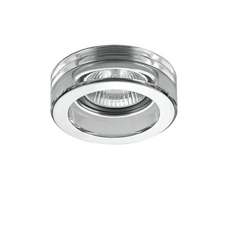 Встраиваемый светильник Lightstar Lei Mini 006134, 1xGU5.3x50W, прозрачный, хром, металл, стекло