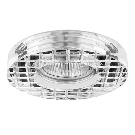 Встраиваемый светильник Lightstar Faceto Cr 006310, 1xGU5.3x50W, прозрачный, стекло