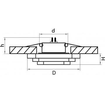 Схема с размерами Lightstar 006410