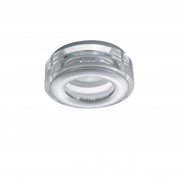 Встраиваемый светильник Lightstar Difesa Mini 006830, IP44, 1xGU5.3x35W, хром, прозрачный, металл, стекло