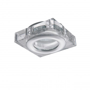Встраиваемый светильник Lightstar Difesa Mini 006840, IP44, 1xGU5.3x35W, хром, прозрачный, металл, стекло