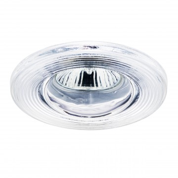 Встраиваемый светильник Lightstar Difesa Piano 006880, IP44, 1xGU5.3x35W, хром, прозрачный, металл, стекло - миниатюра 1