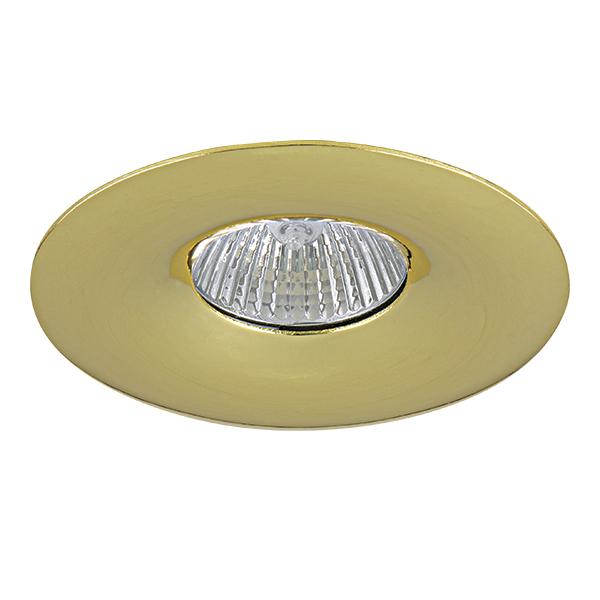 Встраиваемый светильник Lightstar Levigo 010012, 1xGU5.3x50W, золото, металл - фото 1