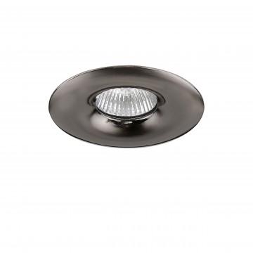 Встраиваемый светильник Lightstar Levigo 010018, 1xGU5.3x50W, черный хром, металл