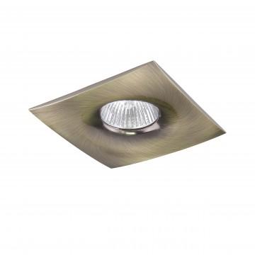 Встраиваемый светильник Lightstar Levigo 010031, 1xGU5.3x50W, бронза, металл