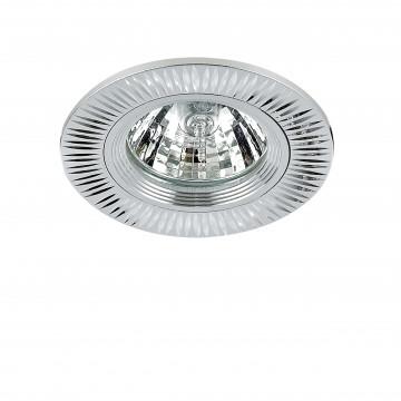Встраиваемый светильник Lightstar Banale 011004, 1xGU5.3x50W, хром, металл