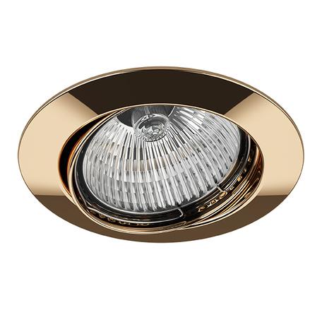 Встраиваемый светильник Lightstar Lega 16 011022, 1xGU5.3x50W, золото, металл