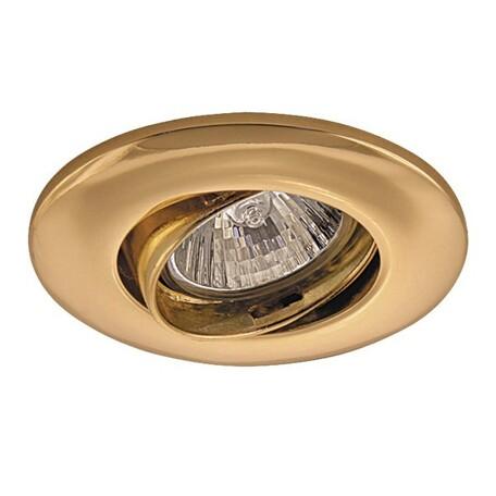 Встраиваемый светильник Lightstar Lega 11 011052, 1xGU5.3x50W, золото, металл