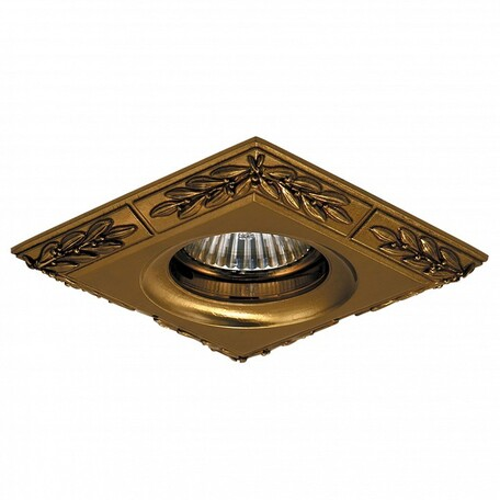 Встраиваемый светильник Lightstar Helio 011148, 1xGU5.3x50W, бронза, металл