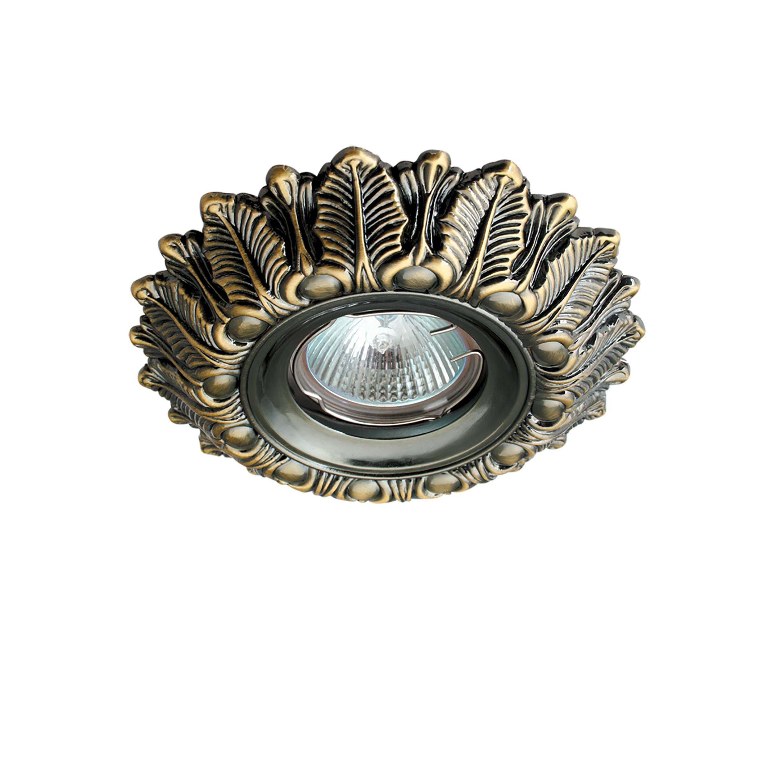 Встраиваемый светильник Lightstar Helio 011198, 1xGU5.3x50W, бронза, металл - фото 1