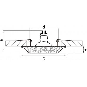 Схема с размерами Lightstar 011198