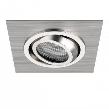 Встраиваемый светильник Lightstar Singo 011601, 1xGU5.3x50W, алюминий, хром, металл