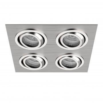 Встраиваемый светильник Lightstar Singo 011604, 1xGU5.3x50W, алюминий, хром, металл