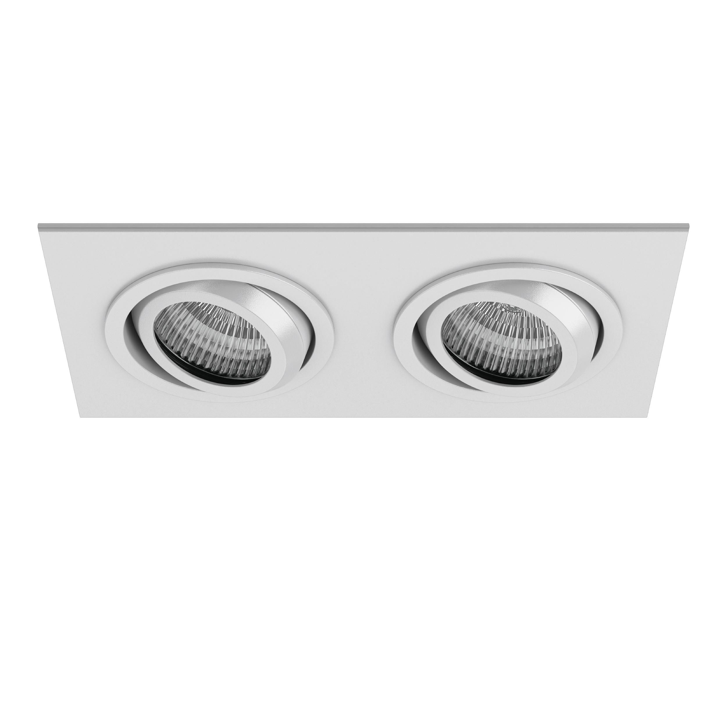 Встраиваемый светильник Lightstar Singo 011612, 1xGU5.3x50W, белый, металл - фото 1