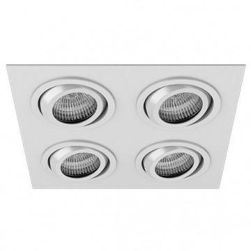 Встраиваемый светильник Lightstar Singo 011614R, 4xGU5.3x50W, белый, металл
