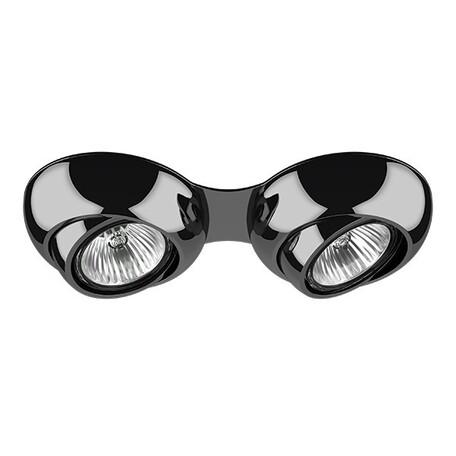 Встраиваемый светильник Lightstar Ocula 011827, 1xGU5.3x50W, черный хром, металл