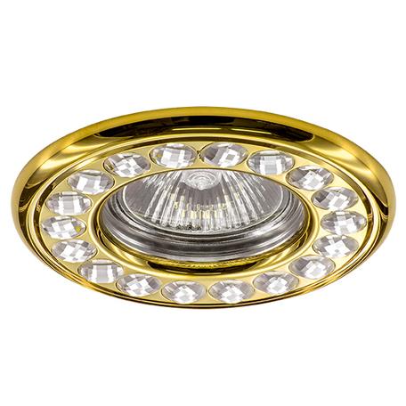Встраиваемый светильник Lightstar Miriade 011902, 1xGU5.3x50W, золото, металл со стеклом