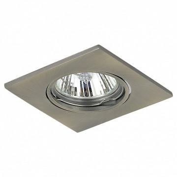 Встраиваемый светильник Lightstar Lega 16 011938, 1xGU5.3x50W, никель, металл