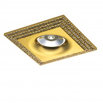 Встраиваемый светильник Lightstar Miriade 011982, 1xGU5.3x50W, золото, прозрачный, металл, стекло