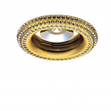 Встраиваемый светильник Lightstar Miriade 011992, 1xGU5.3x50W, золото, прозрачный, металл, стекло